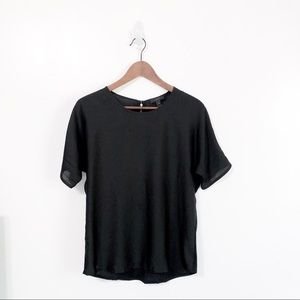 J. Crew Black Scoop Neck Short Sleeve Top